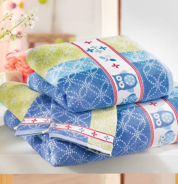 Lot ponge chouette r veil 1 drap de bain 70cm x 130cm 1 for Reveil de salle de bain