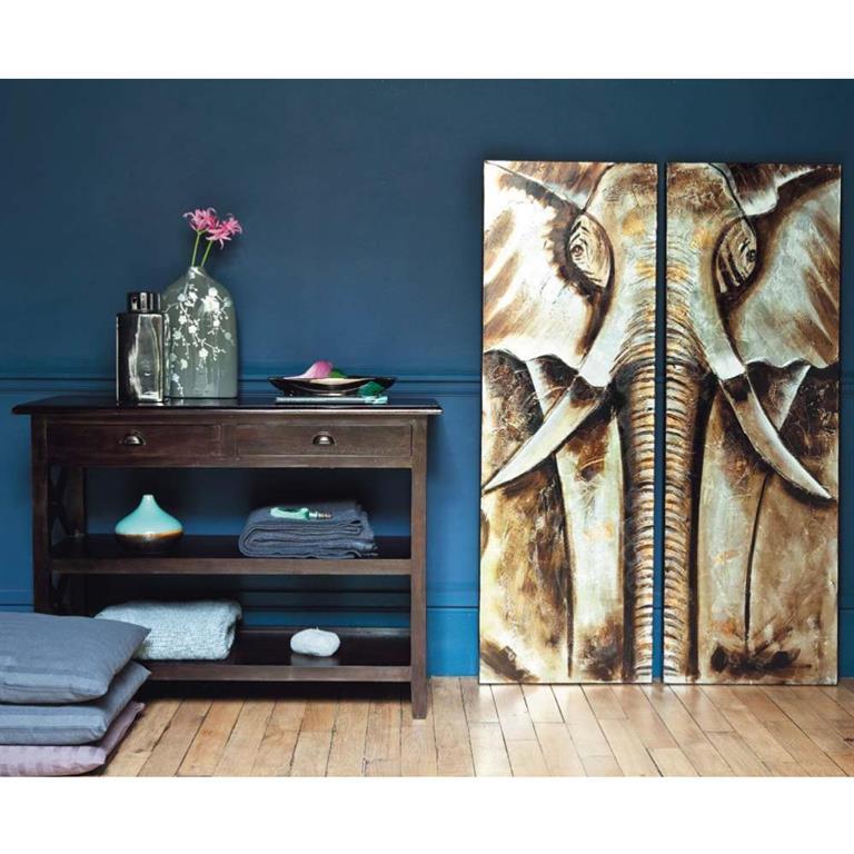 Table console en mahogany massif L 110 cm Acajou