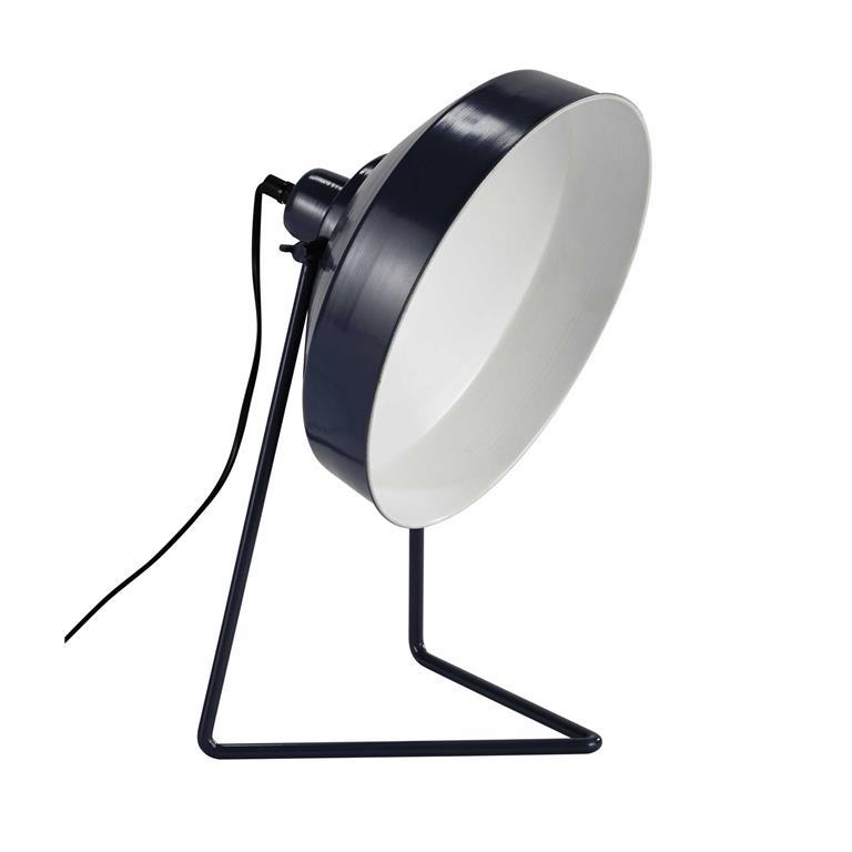 Lampe en métal bleu gris H 40 cm OTTAWA