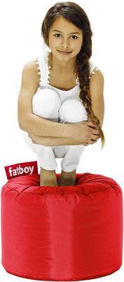 Pouf Point - Fatboy Ø 50 x H 35 cm rouge en tissu