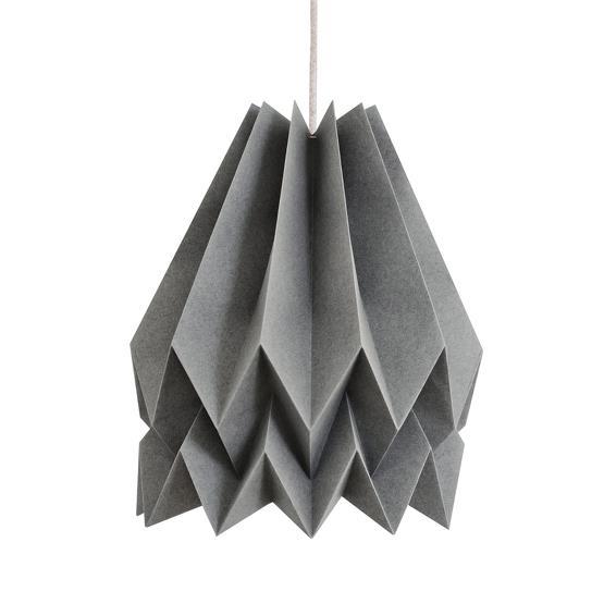 Abat-jour gris alpin en papier - Orikomi