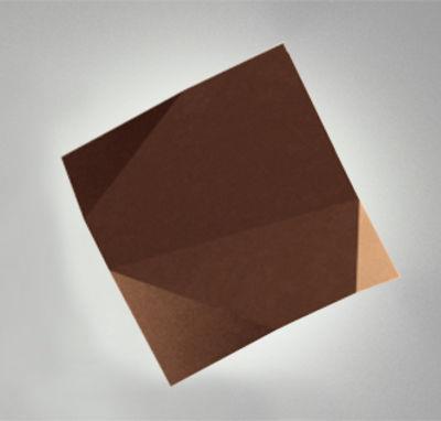 Applique Origami LED / Motifs n°1 - Vibia marron en matière plastique