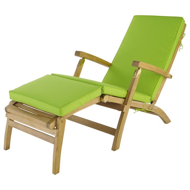 Matelas chaise longue vert L 185 cm Oléron