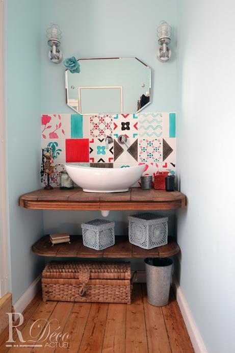 Image Salle de bain colorée