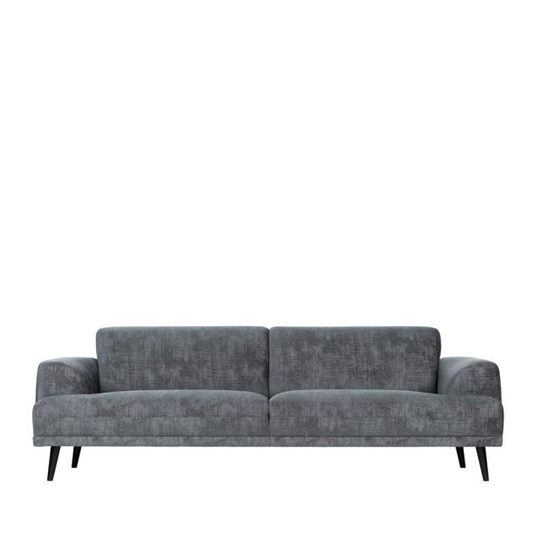Canapé 3 places en velours gris ardoise