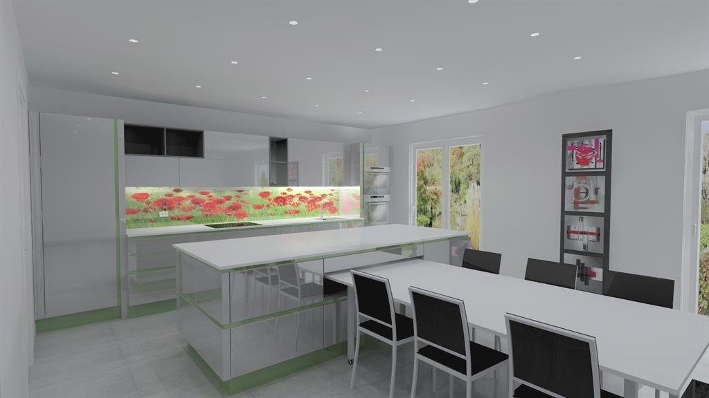 Projet 3d cuisine contemporaine dco concept photo n 30 for Projet cuisine 3d