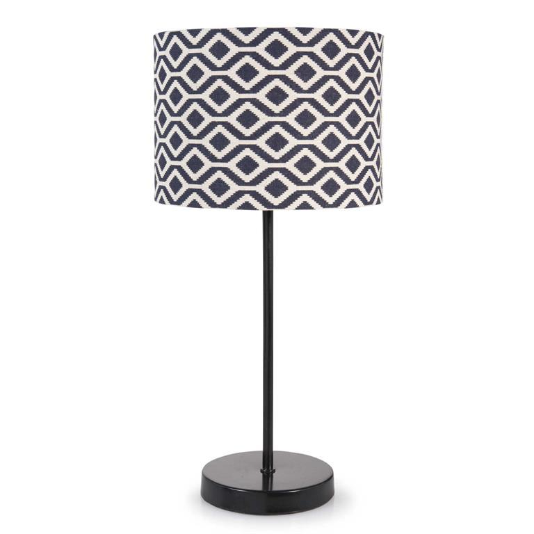Lampe en métal noir H 41 cm IKAT