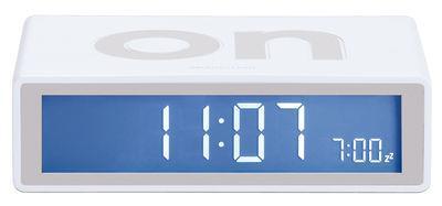 Réveil Flip LCD - Lexon blanc en matière plastique