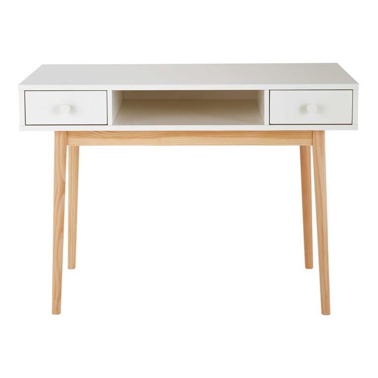 Bureau 2 tiroirs blanc Joy
