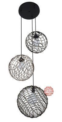 Suspension Sphere Multiple / Bambou - Set 3 sphères - Forestier noir