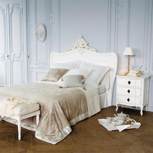 Tête de lit en bois blanche L 160 cm Comtesse Maisons du monde
