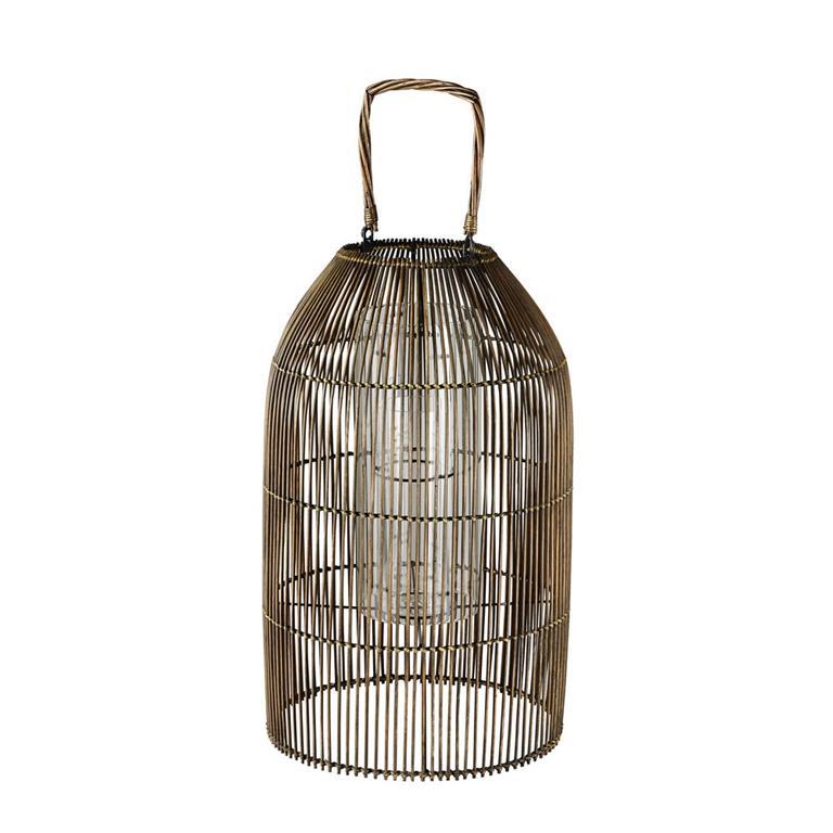 Maison Du Monde Lanterne.Lanterne En Bambou Tresse Et Verre Maisons Du Monde