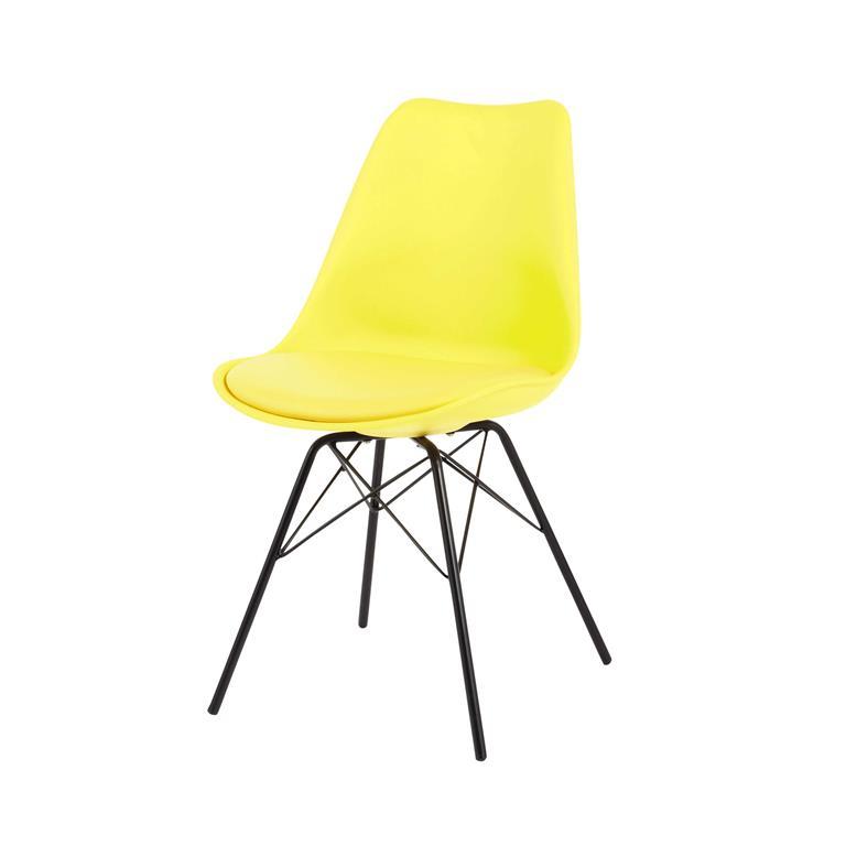 Chaise en polypropylène et métal jaune Coventry