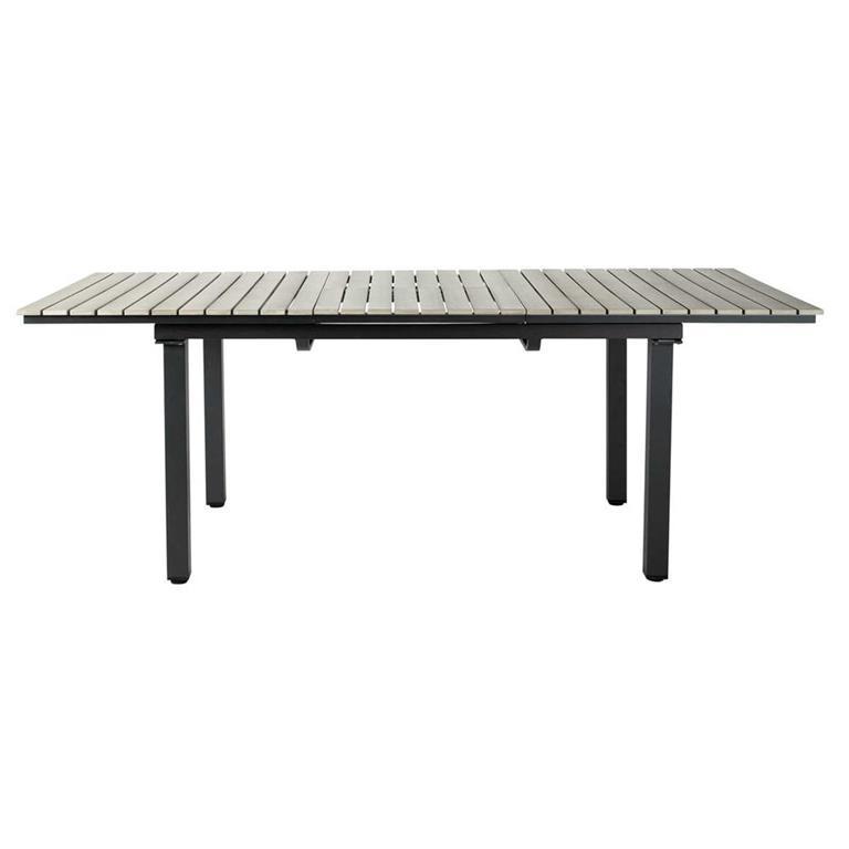 Table de jardin en aluminium gris L 213 cm Escale