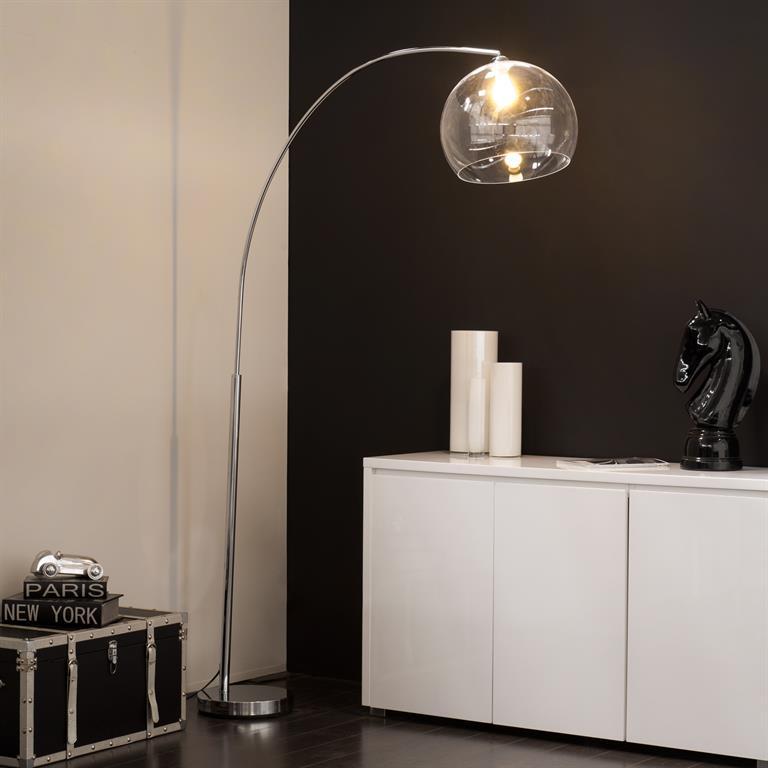 Lampadaire en métal et plexi transparent H 206 cm CYBER LIGHT