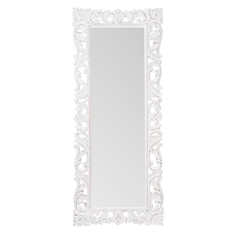 Miroir en bois blanc H 145 cm TEHURA