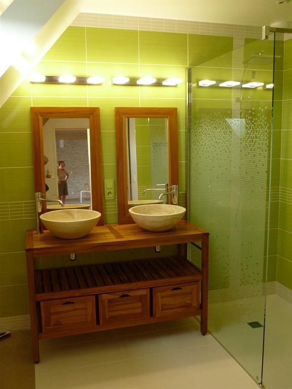 carrelage salle de bain bambou 5 salle de bain carrelage salle de bain bambou salle de bain avec carrelage vert elsa - Salle De Bain Bois Et Vert