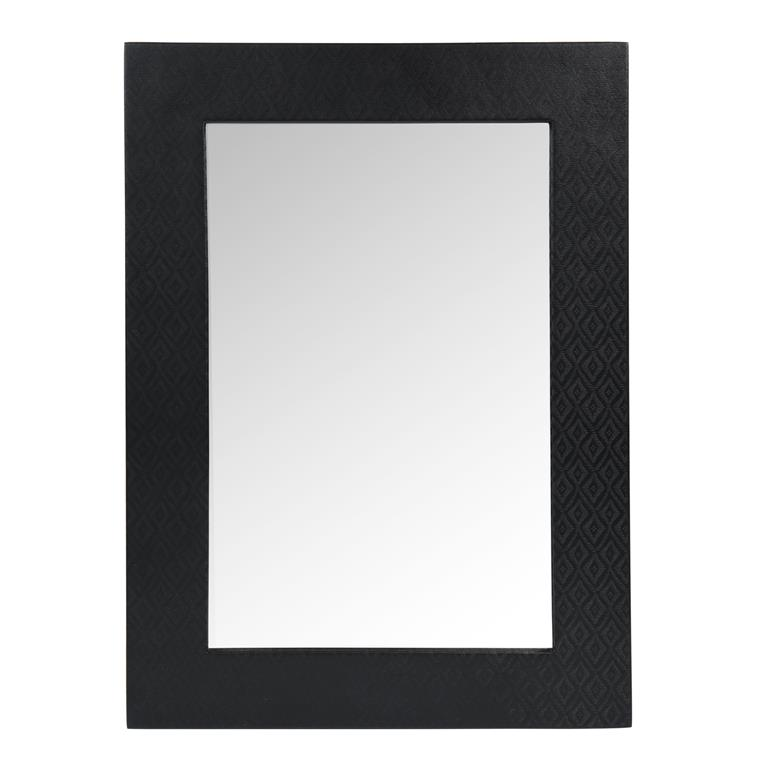 Miroir en bois noir H 55 cm TOUAREG