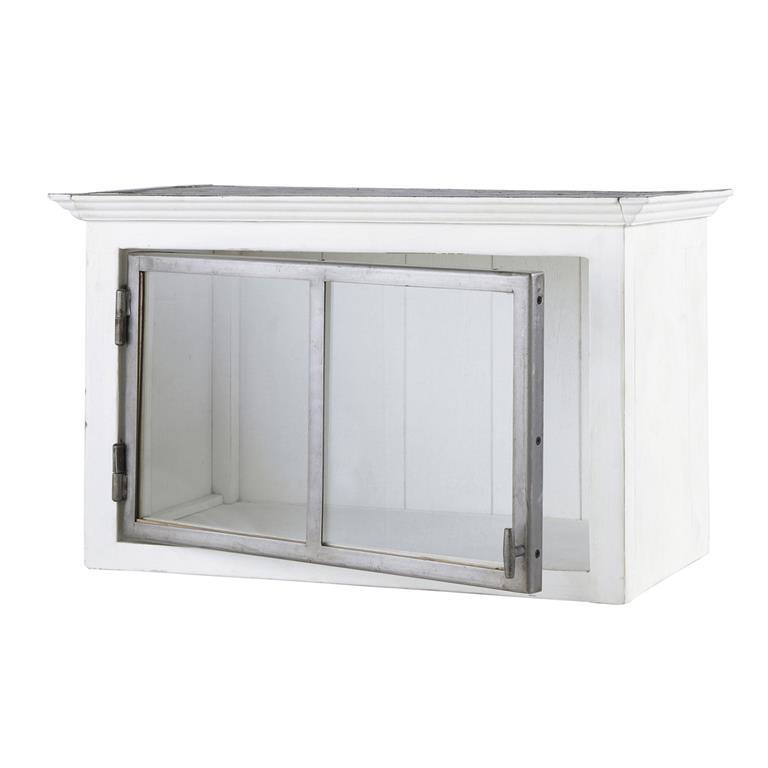 Meuble haut de cuisine ouverture droite en bois recycl - Meuble haut de cuisine blanc ...