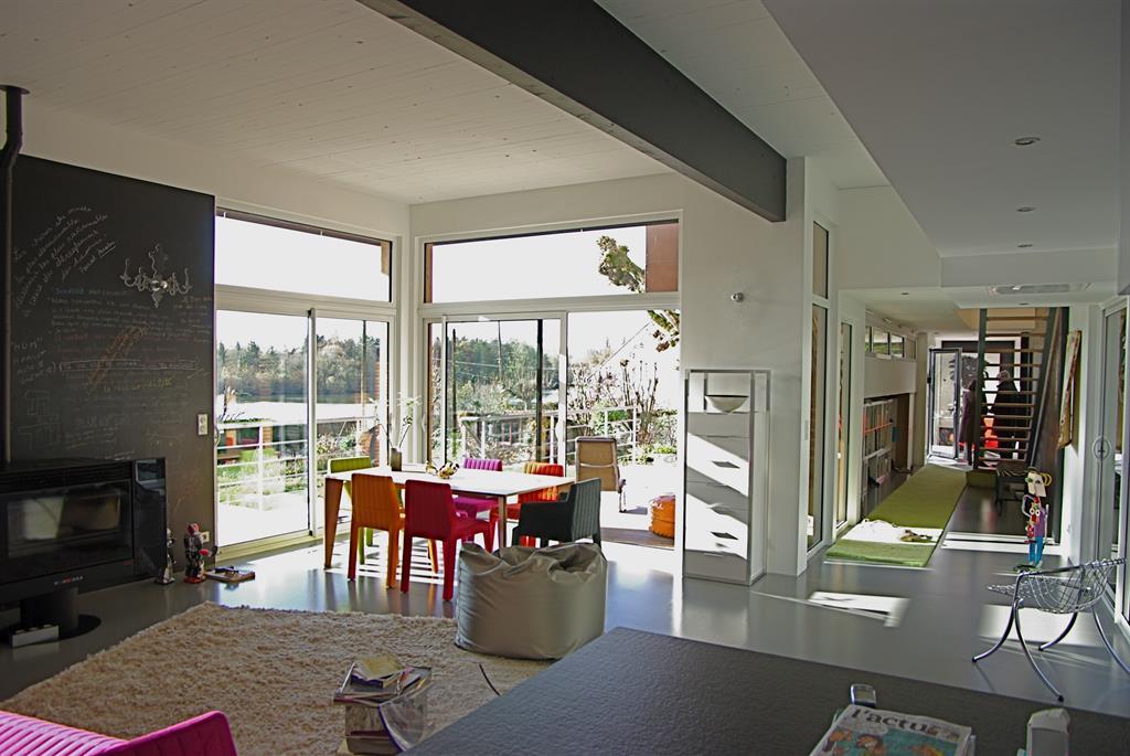 Image Le séjour vue de la cuisine Marc Lafagne architecte dplg