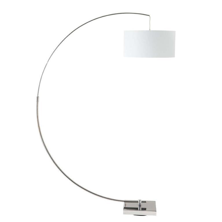 Lampadaire en aluminium et coton blanc H 188 cm URBAN