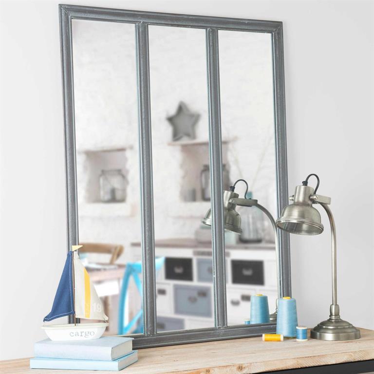 Miroir en métal H 90 cm VERRIÈRE
