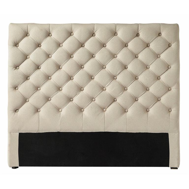 Tête de lit capitonnée en lin L 140 cm