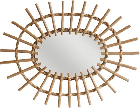 Miroir avec cadre en rotin Oval - HKliving