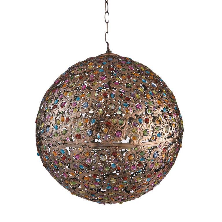 Suspension en métal et verre multicolore D 50 cm MILLE ET UNE NUITS