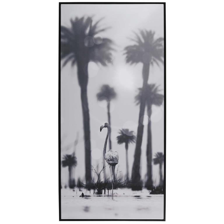 Cadre noir imprimé 57x118cm MALAMBO