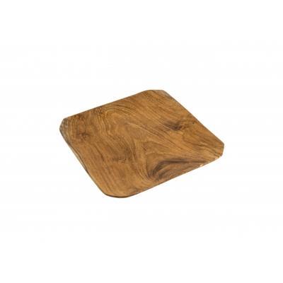 Plat en bois de Teck OCTOGONAL JOE SAYEGH