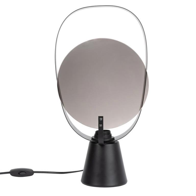 Lampe en métal noir avec miroir en verre