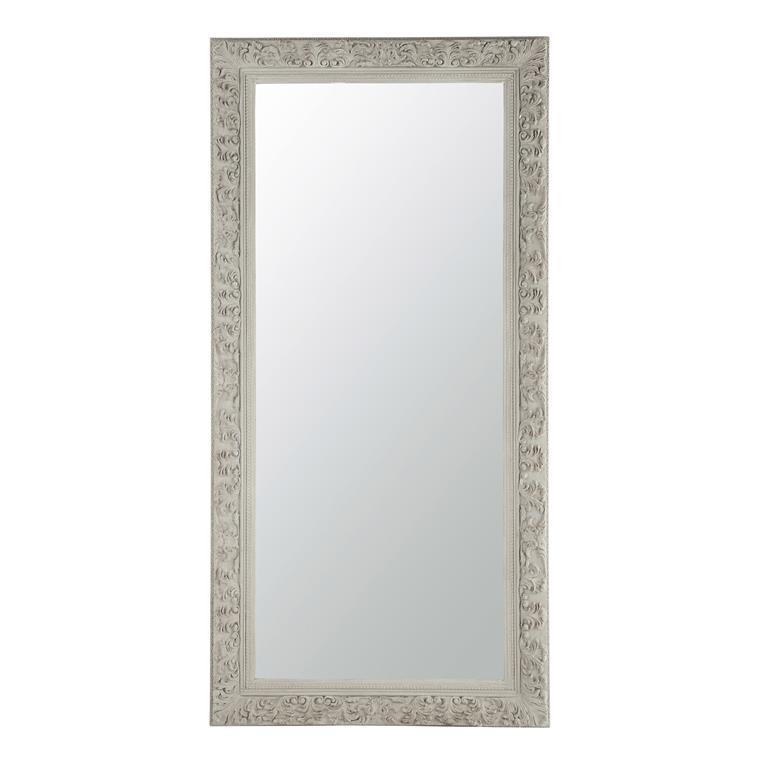 miroir en bois beige gris h 180 cm alienor