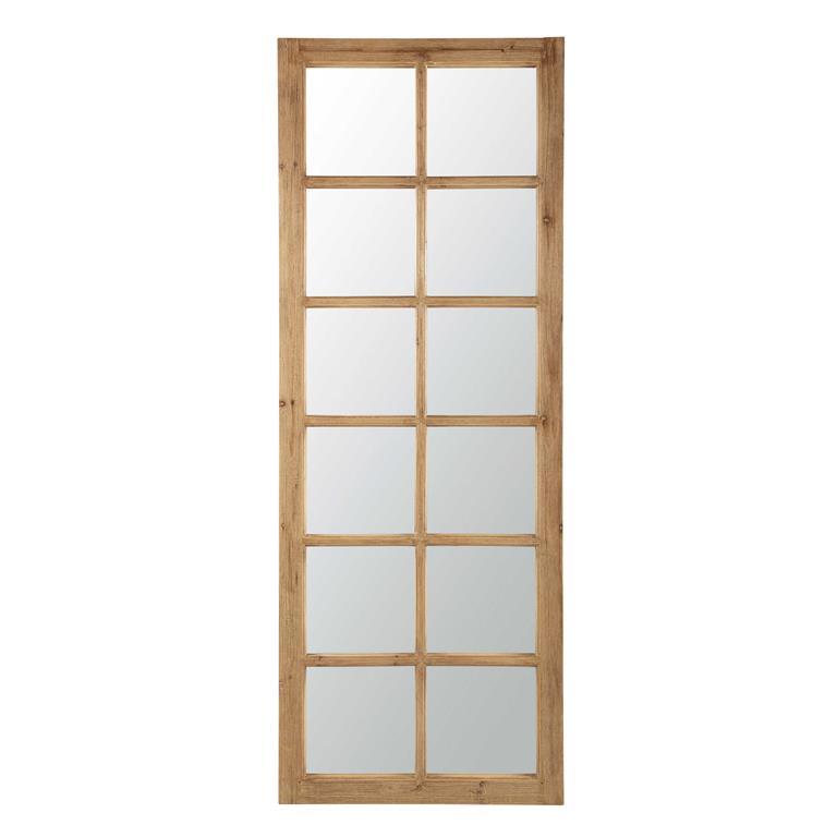 Miroir fenêtre en bois H 198 cm CHAUVIGNY
