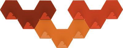 Patère Simplex lot de 3 - Tolix orange en métal