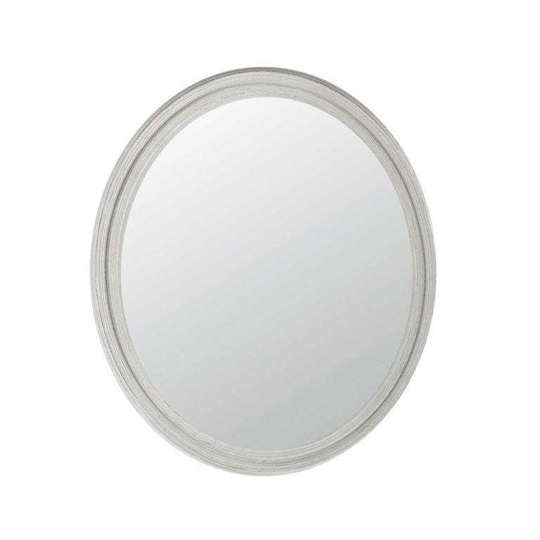 Miroir ovale en résine gris clair H70 cm CLÉA