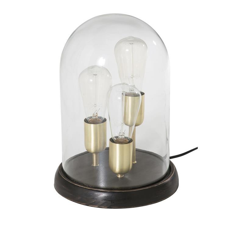 3 lampes sous cloche en verre maisons du monde ref 177303. Black Bedroom Furniture Sets. Home Design Ideas