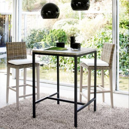 table manger haute en sapin et m tal 2 4 personnes l75 long island. Black Bedroom Furniture Sets. Home Design Ideas