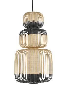 Suspension Totem Bamboo Light / 3 abat-jours - H 115 cm