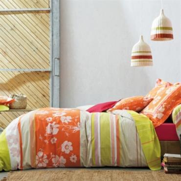 Parure de lit Bohème Orange BLANC DES VOSGES
