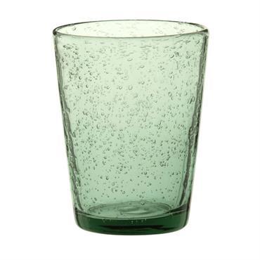 Gobelet en verre bullé vert