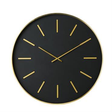 Horloge en métal noir et doré D86