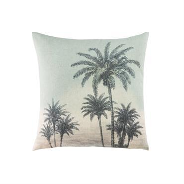 Coussin imprimé paysage tropical 45x45