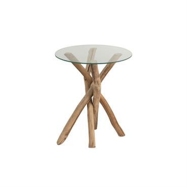 Table d'appoint ronde style bohème