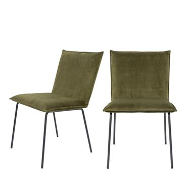 Une conception en apparence classique, mais qui est agrémentée d'une touche élégante et raffinée grâce à ses couleurs tonifiantes. Avec ses lignes droites et son revêtement voluptueux, la chaise Floke ...