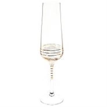 Flûte à champagne en verre coloris or SPIRALE