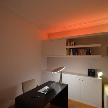 Un vrai bureau à la maison, d'accord ! … Mais pourquoi pas, en plus, un petit espace de travail pour ... Domozoom