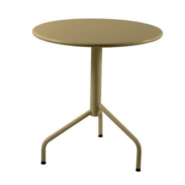 Table de jardin ronde métal pliante Riviera 60 cm