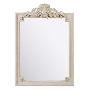 Miroir à moulures grises 120x185