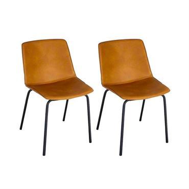 Lot 2 chaises design simili HARONA